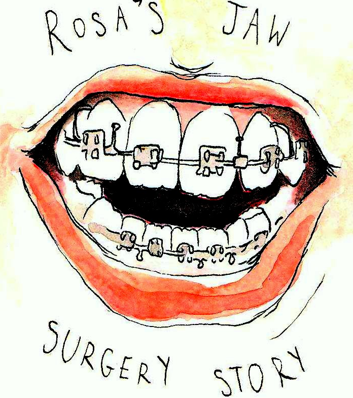 Rosa Created Her Own Logo To Share Her Oral Surgery Experience
