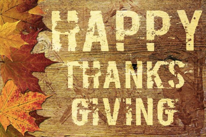 Happy Thanksgiving Wood